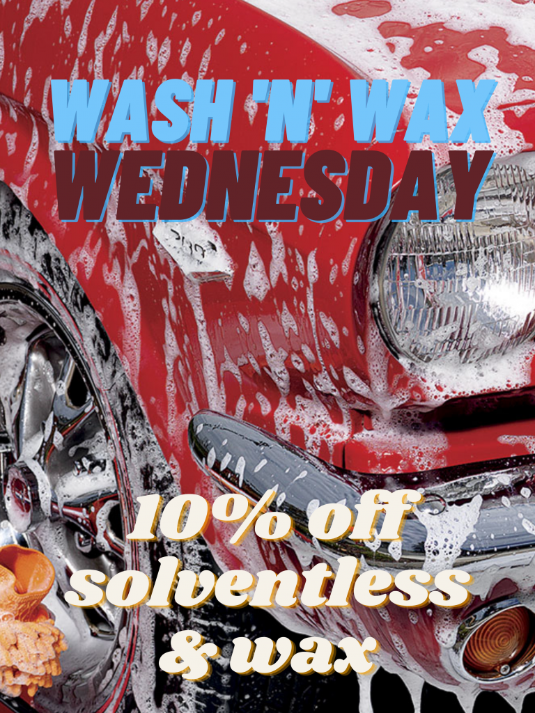 Wednesday 10% off solvents